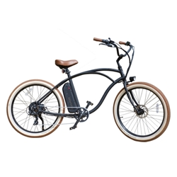 Beach Bum electric bike, ebike, electric beach cruiser, 48v, 500w, lightweight ebike, electric bicycle